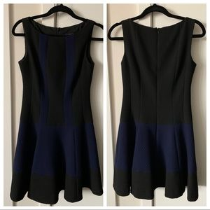 Nanette Lepore Black & Blue Textured Dress